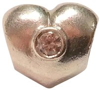 PANDORA RETIRED!!! Sterling Silver Heart Charm with CZ