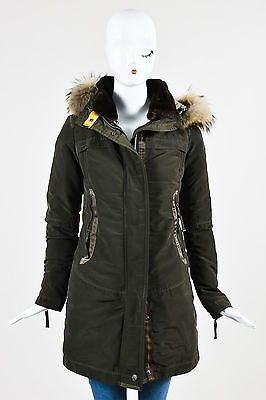 Other Parajumpers Down Raccoon Fur Hooded Selma Parka Coat. 12345