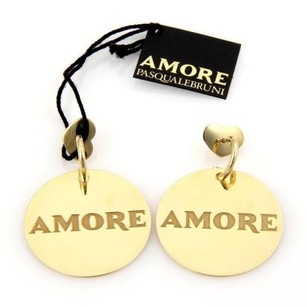 Pasquale Bruni Pasquale Bruni 18k Yellow Gold Amore Disc Drop Dangle Earrings