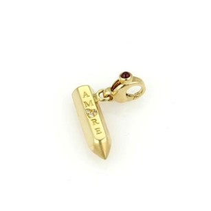 Pasquale Bruni Pasquale Bruni 18k Yellow Gold Diamond Amore Pencil Charm