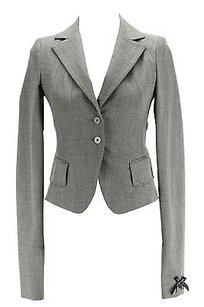 Patrizia Pepe Patrizia Pepe Womens Blazer Grey Virgin Wool