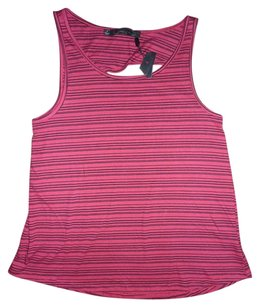 Patterson J. Kincaid Striped Cut-out Cutaway Sleeveless Top