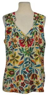 Patterson J. Kincaid J Womens Floral Cotton Casual Shirt Top Beige, Blue, Green, Red, Orange