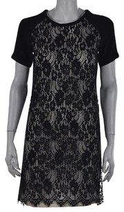 Paul & Joe Amp Sister Womens Black Textured Above Knee Shift Dress