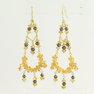 Paul Morelli Paul Morelli Citrine Diamond Chandelier Earrings - 18k Yellow Gold Pierced