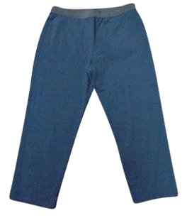 Peace of Cloth Viscose Blend Casual Elastic Waist Cropped 2369a Capri/Cropped Pants Blue