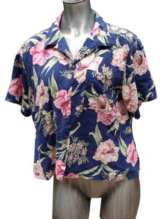 Pearl Head Bay Button Down Shirt Silk Floral Print