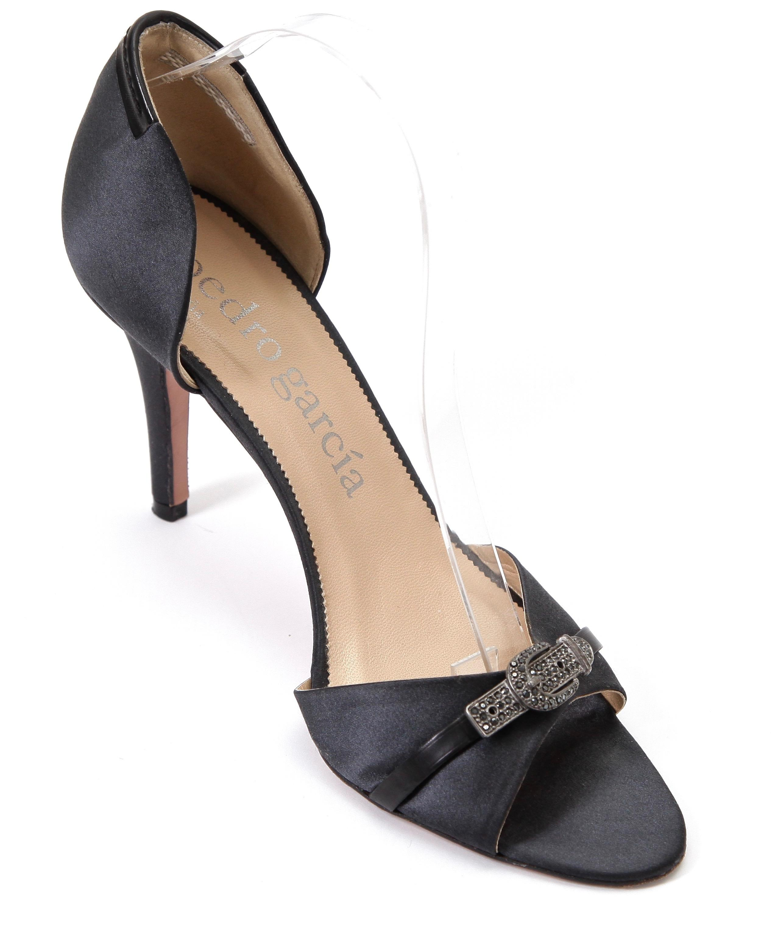 buy cheap best store to get outlet cheap Pedro Garcia Satin Peep-Toe Pumps clearance best sale cheap price buy discount outlet 100% guaranteed dpKlP2gml