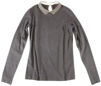 Peserico Tricot 40 Gray Knit Long Lg Top