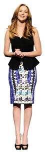 Peter Pilotto Pencil Print Skirt Blue