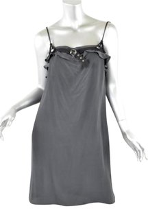 Petro Zillia short dress Grays Gray Silk on Tradesy