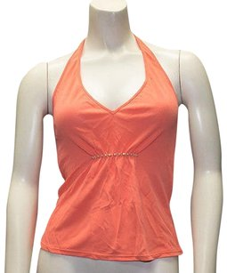Philosophy di Alberta Ferretti Orange Halter Top