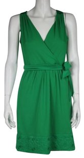 Phoebe Couture Womens Textured Casual Sleeveless V Neck Sheath Dress