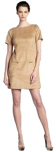 Phoebe Couture short dress Camel Suede Mini on Tradesy