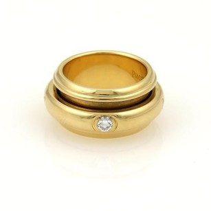 Piaget Piaget Diamond 18k Yellow Gold Spinner Band Ring