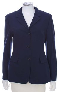 Piazza Sempione Cotton Nylon Stretchy Spandex Navy Blazer