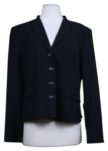 Piazza Sempione Piazza Sempione Womens Black Blazer 4816 Wool Career Jacket