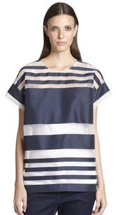 Piazza Sempione Sheer Striped Beach Tunic