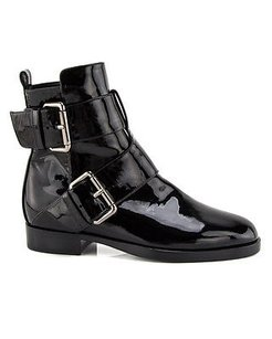 Pierre Hardy Hardy Patent Leather Double Buckle Ankle Eu Black Boots
