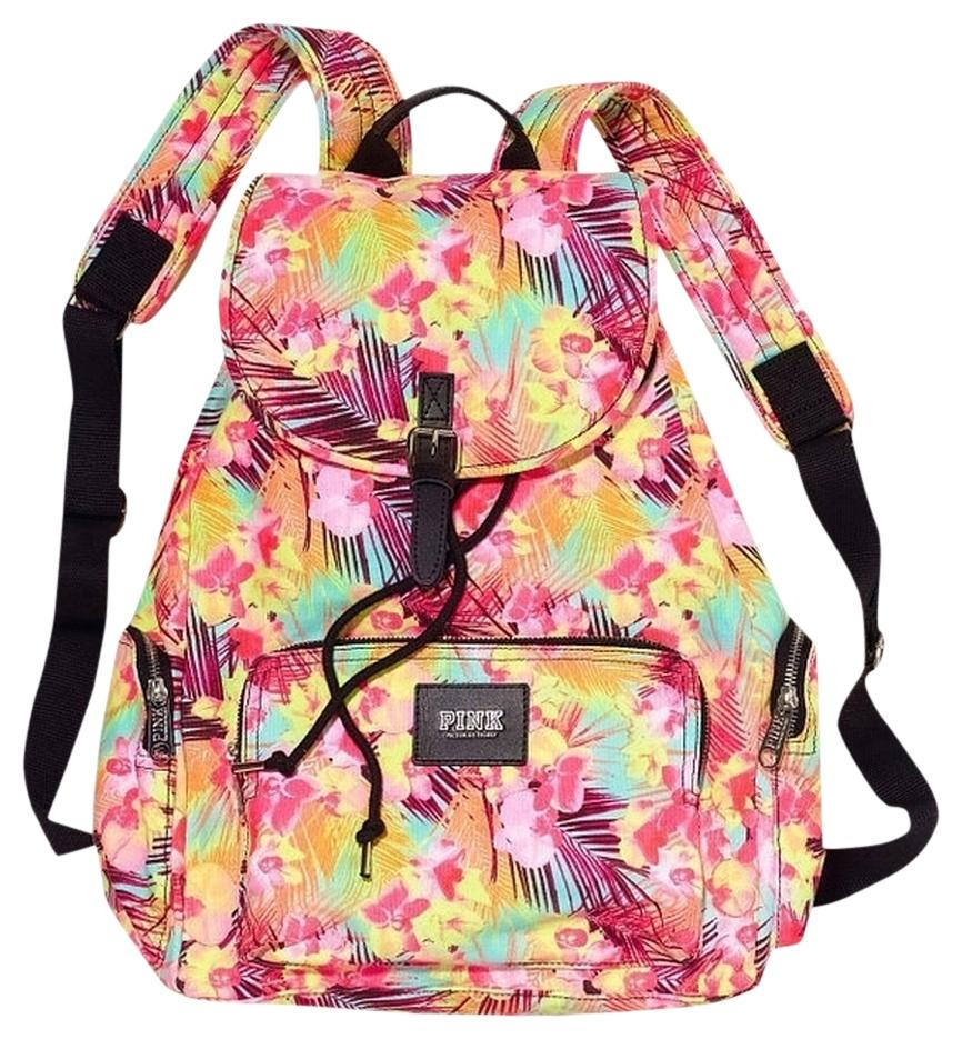 PINK Victoria's Secret Floral Hawaiian Cosmetic Case  Backpack ...