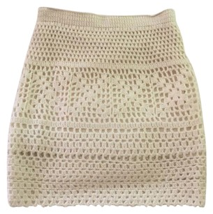Pins and Needles Mini Skirt Cream