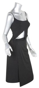 Plein Sud Womens Rayon Blend Knit Cutout Sleeveless Wrap 386 Dress