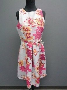 Plenty by Tracy Reese Floral Poly Lined Sheath Sma166 Dress