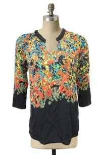 Plenty by Tracy Reese Black Top Multi-Color