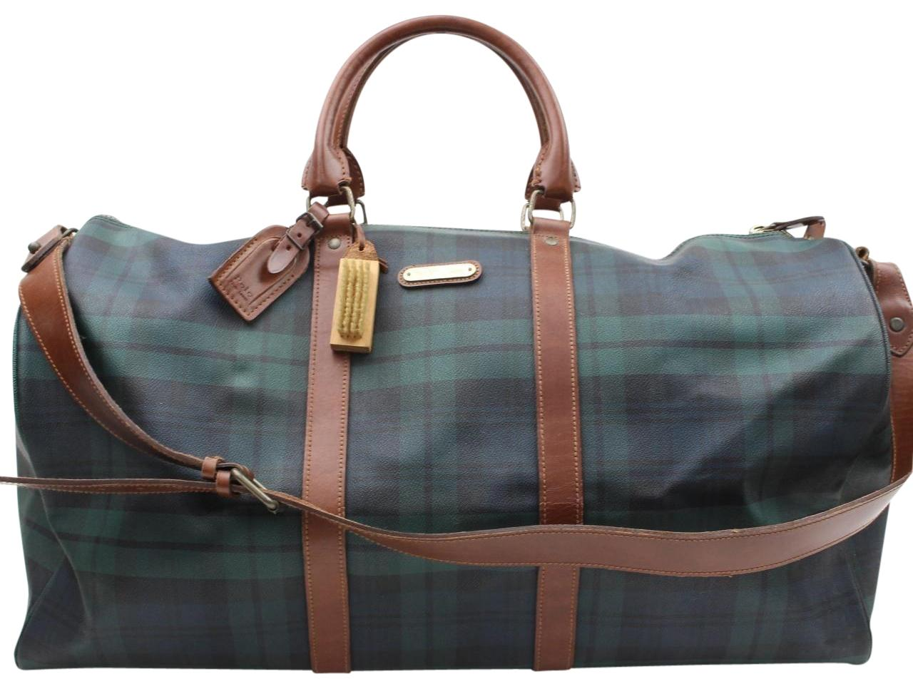 5cc071a24bbe ... get polo ralph lauren keepall bandouliere duffle boston green travel  bag cc55f 955f7 ...