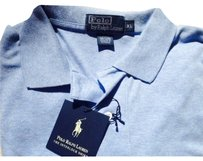 Polo Ralph Lauren Collar Tailored Interlock T Shirt Light Blue