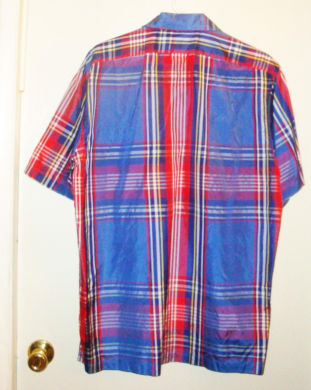 Polo Ralph Lauren Multicolor Blue Red White Yellow Plaid Silk ...