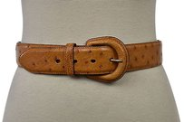 Polo Ralph Lauren Polo Ralph Lauren Womens Tan Textured Belt Width Casual