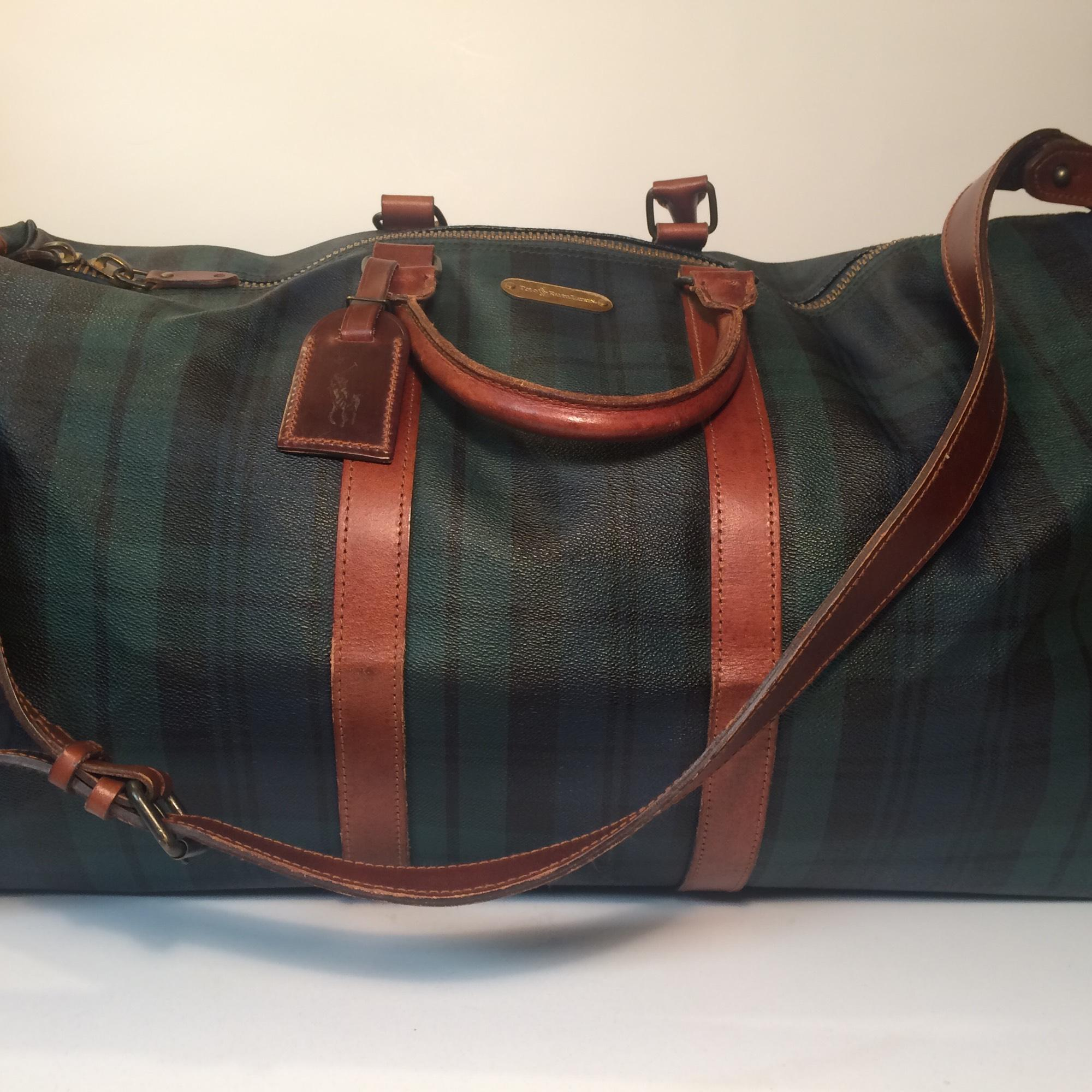BRAND NEW RALPH LAUREN WORLD OF POLO BLUE WEEKEND TRAVEL HOLDALL GYM SPORTS BAG