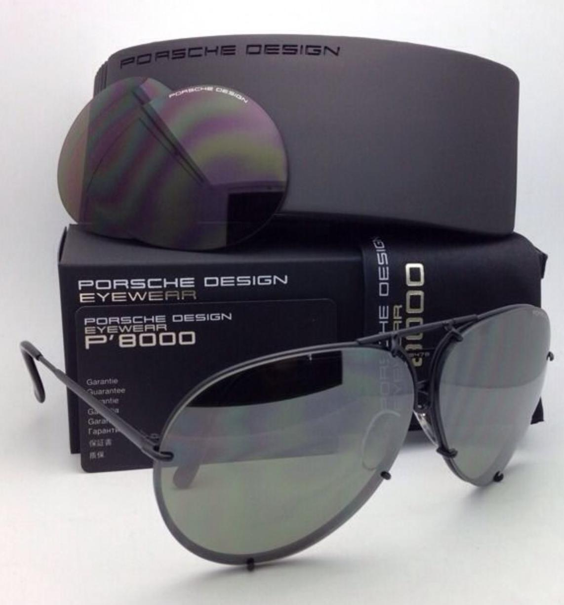 Porsche Design P 8478 66 10 D Black Frame With 2 Lens Sets