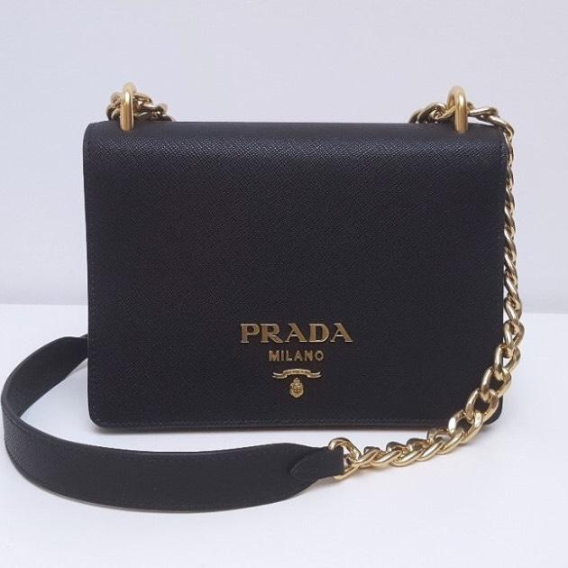 ca7340af9b3e ... authentic prada lux 1bd133 black saffiano cross body bag tradesy 386f0  58c0e