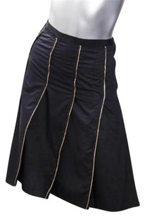 Prada Womens Pleated 426 Skirt Black
