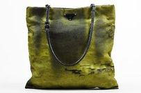 Prada Water Printed Tote in Green