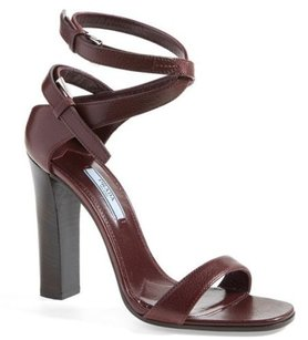 Prada Double Ankle Strap Red Sandals