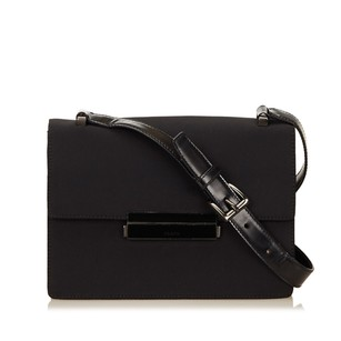 Prada Black Fabric Leather Shoulder Bag