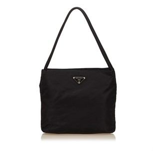 Prada Black Fabric Nylon Shoulder Bag