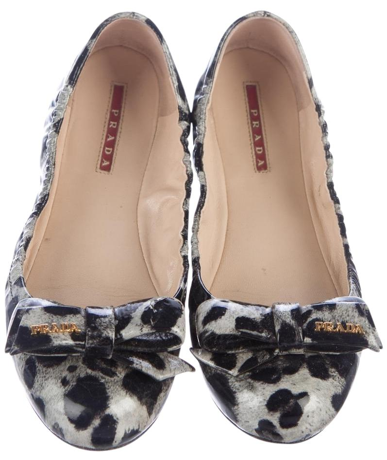 Prada Round-Toe Bow Flats outlet marketable 7N7Lkst