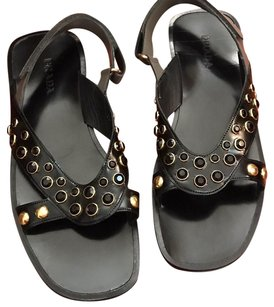Prada Black + grey Sandals