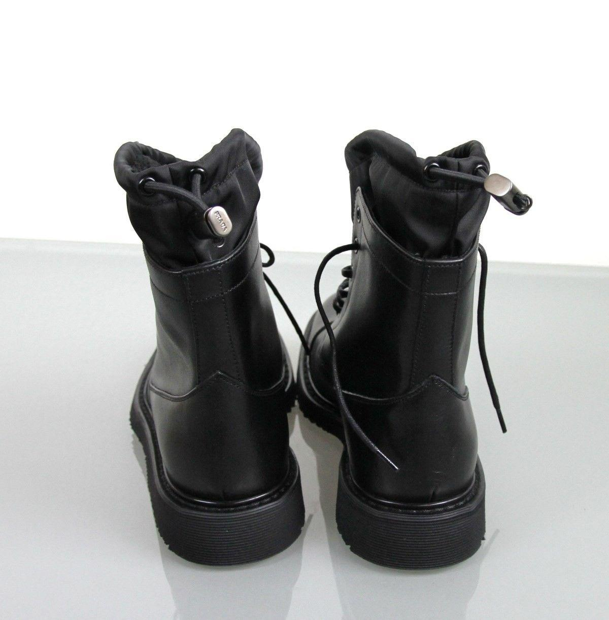 Prada Sport Leather Lace-Up Booties new styles buy cheap largest supplier 0mquKK