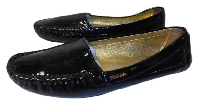 7c3e97c5e29 ... usa prada designer loafer patent leather black flats 0ffd4 e6337