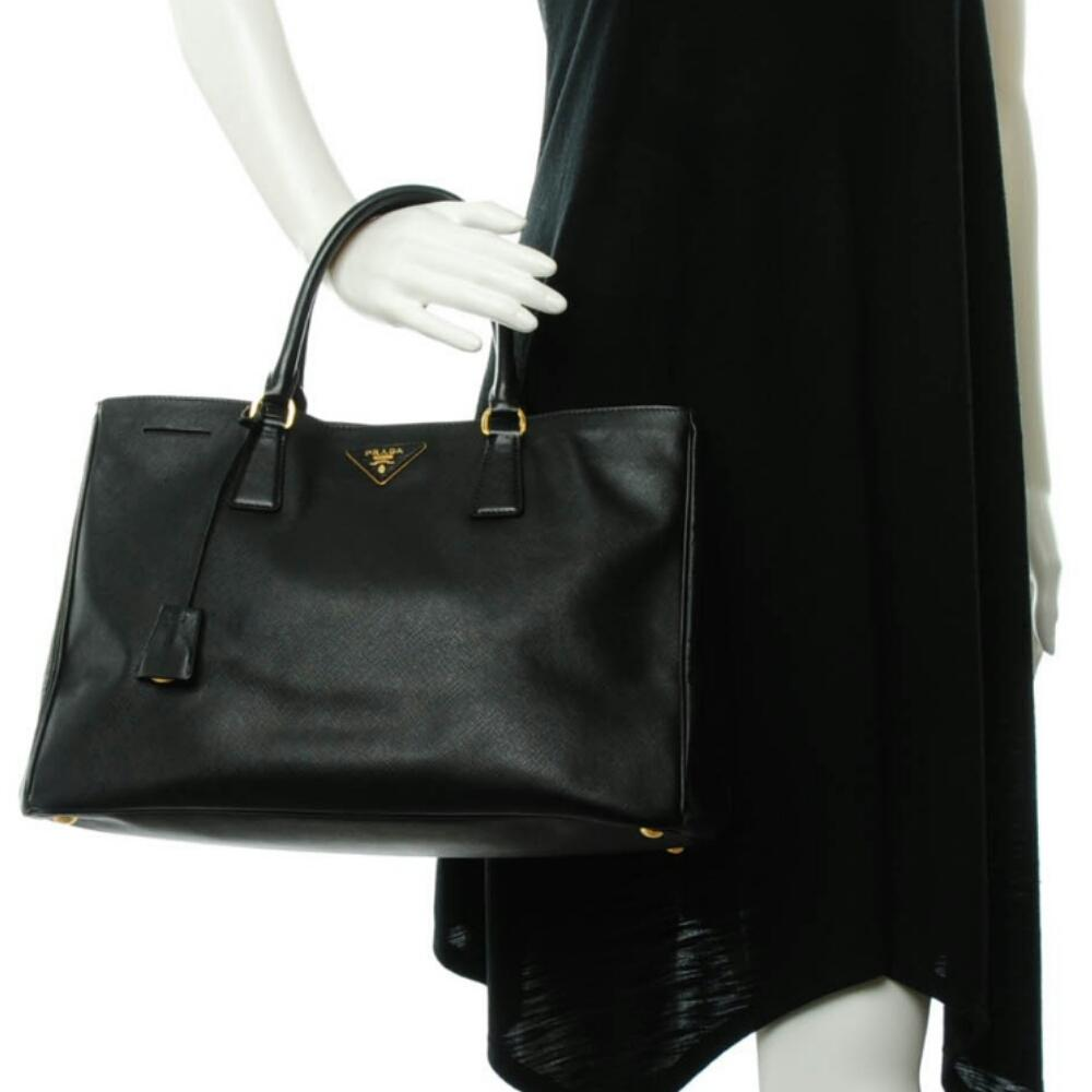 88c365ec52fa ... inexpensive prada lux bn 1844 large tote black saffiano cross grain  leather shoulder bag tradesy cc925