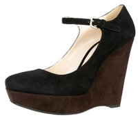 Prada brown- black Wedges