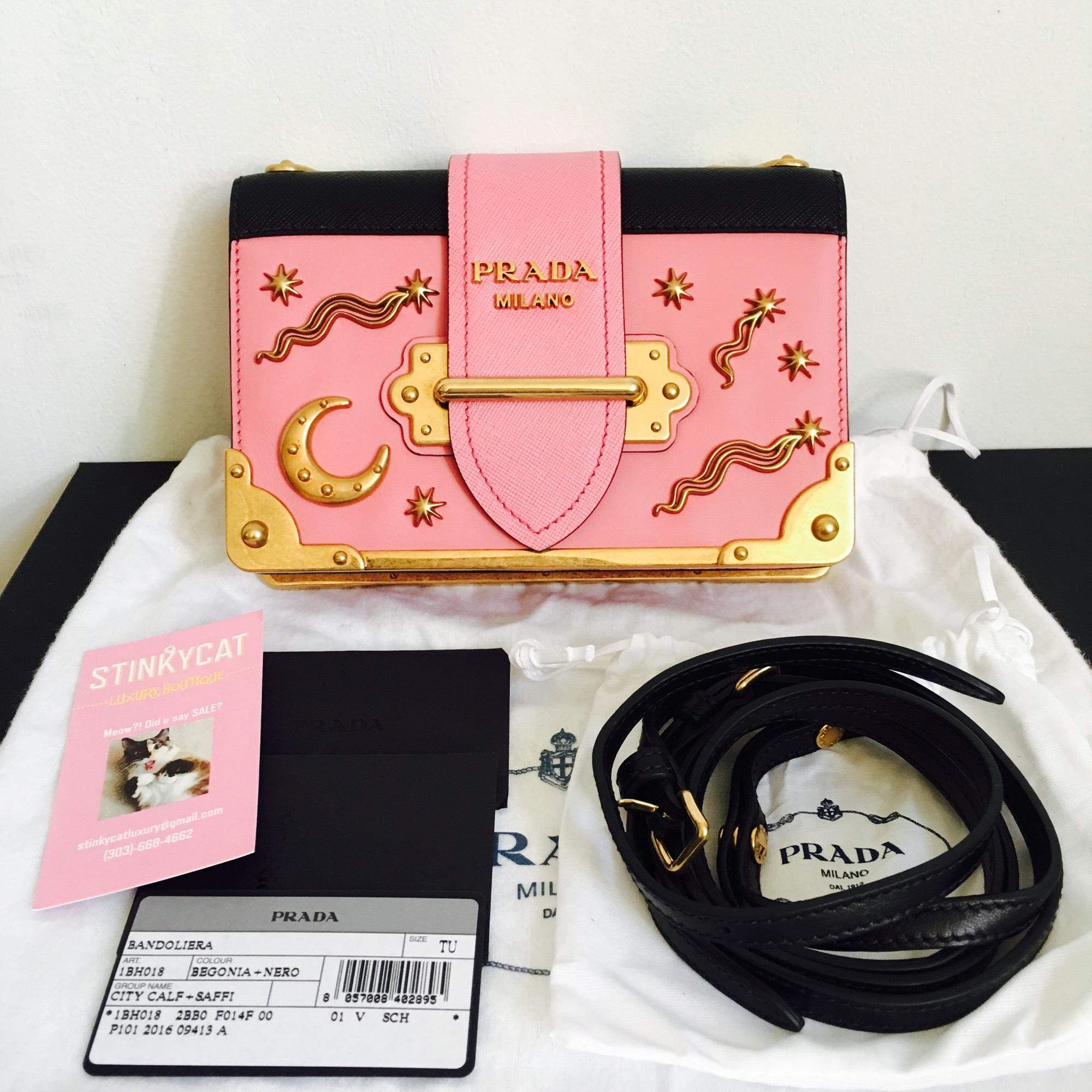 09f6239d5401 ... cheap prada cahier sold out embellished moon and stars shoulder pink leather  cross body bag tradesy