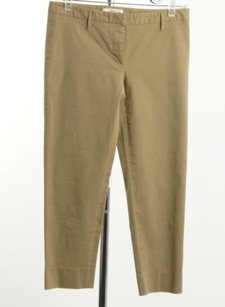 Prada Flat Front Cropped Capri/Cropped Pants Beiges