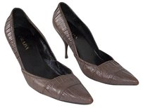 Prada Taupe Ruched Gray Pumps
