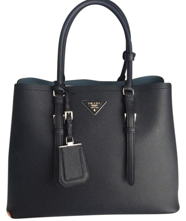 3ef3b86b73faf3 discount prada tote in navy blue and sky blue baltico astrale 2fa0a 45f3d